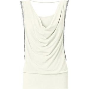 BODYFLIRT Top in weiß (Wasserfall-Ausschnitt) für Damen von bonprix
