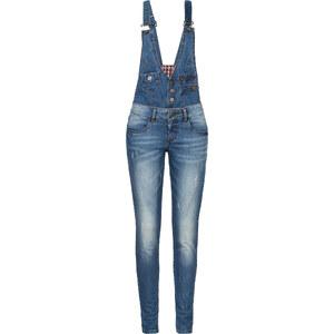 RAINBOW Combinaison en jean bleu sans manches femme - bonprix