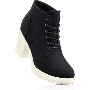 RAINBOW Boots montantes noir avec 8 cm talon carréchaussures & accessoires - bonprix