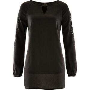 bpc selection Blouse-tunique noir manches longues femme - bonprix