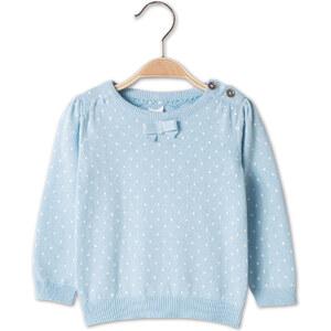 C&A Baby Baby-Pullover in Weiss / Blau - Größe: 80