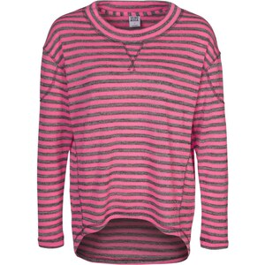 Vero Moda FINO Strickpullover light grey melange/neon pink