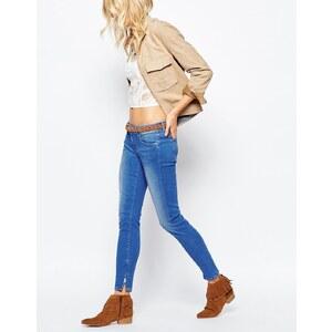 Pepe Jeans - Cher - Jean taille basse zippé aux chevilles - Bleu