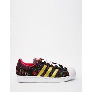 adidas Originals - Superstar - Baskets à fleurs avec bout blanc - Multi