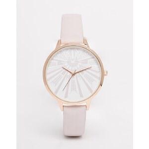 ASOS - Armbanduhr mit großem Zifferblatt mit geometrischem Muster
