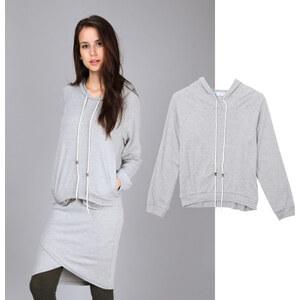 Lesara Sweatshirt à capuche avec long cordon de serrage