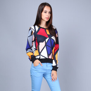 Lesara Sweatshirt avec motif Pop art