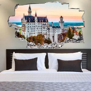 Lesara 3D-Vinyl-Wandsticker Schloss Neuschwanstein