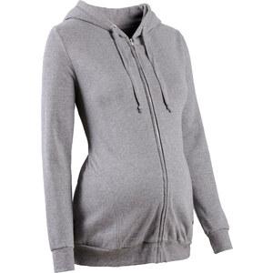bpc bonprix collection Gilet sweat de grossesse gris manches longues femme - bonprix