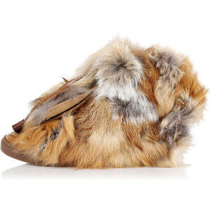 Dsquared2 Hohe Sneakers mit Fuchs-Pelz Herbst/Winter