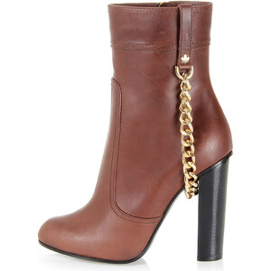Dsquared2 Leather ankle boot with chain Herbst/Winter