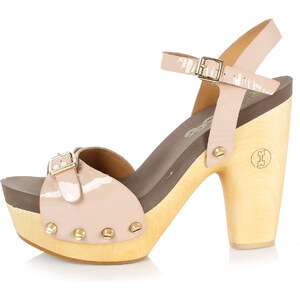 Flogg High Heel Shoes with wood heel and plateau Frühling/Sommer