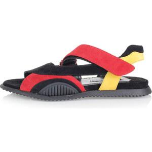 Prada Sandale aus Lackleder mit Logo Frühling/Sommer