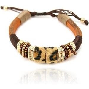Bracelet Marron Léopard AFRICA - Cendriyon