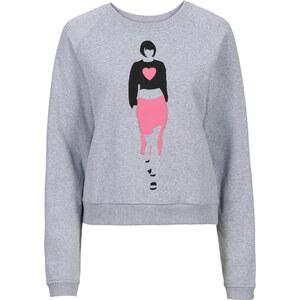 RAINBOW Sweatshirt langarm in grau für Damen von bonprix