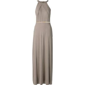 BODYFLIRT Maxi-Kleid mit Gürtel ohne Ärmel in grau von bonprix