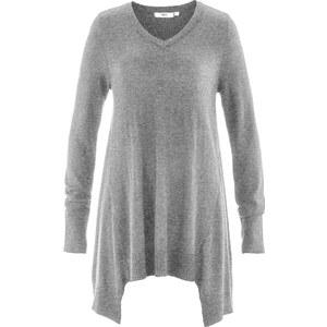 bpc bonprix collection Zipfel-Pullover, Langarm in grau für Damen von bonprix