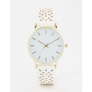 ASOS - Armbanduhr mit Cutout - Weiß