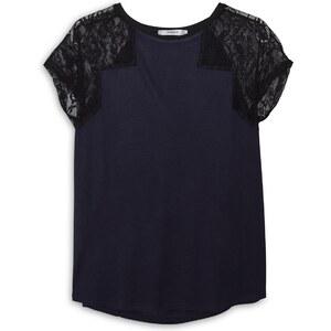 MANGO T-Shirt Mit Spitzenärmeln