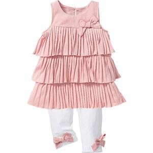 bpc bonprix collection Volanttop + 3/4 Leggings (2-tlg.), Gr. 80-134 ohne Ärmel in rosa für Mädchen von bonprix