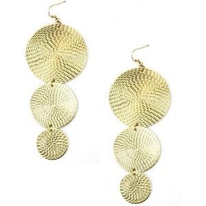 Boucles d'oreilles dorées ROANA - Cendriyon