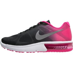 Nike Performance AIR MAX SEQUENT Laufschuh Neutral black/metallic silver/pink foil/cool grey/vivid pink/white