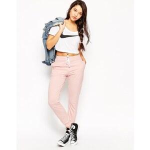 ASOS - Pantalon de jogging basique à liens contrastants - Rose