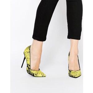 ASOS - POCKET - Chaussures à talons et bout pointu - Jaune