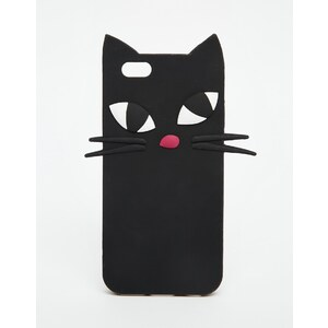Lulu Guinness - Kooky Cat - Étui de protection iPhone 6 - Noir