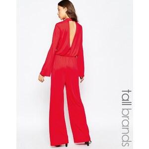 Vero Moda Tall - Combinaison large avec goutte d'eau dans le dos - Rouge