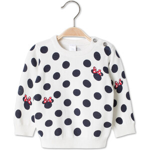 C&A Babys Minnie Mouse Baby-Baumwoll-Pullover in weiss