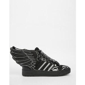 adidas Originals by Jeremy Scott - 2.0 - Schwarze, knöchelhohe Sneakers aus Netzstoff - Schwarz