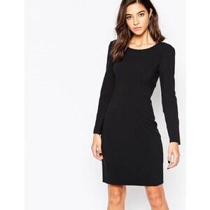 Sisley - Figurbetontes Kleid mit Konturierung - Schwarz