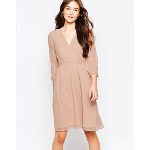 Vero Moda - Mittellanges Kleid mit 3/4-Arm - Rose
