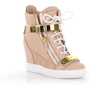 Giuseppe Zanotti Damen Wedge Sneaker Lorenz Golia rosa geprintet