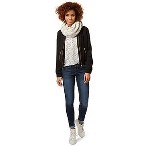 TOM TAILOR Jona extra skinny stone washed Skinny-Jeans mit leichter Waschung für Frauen (unifarben, mit Knopf und Reißverschluss vorne) aus Jeans mit Stretch-Ant