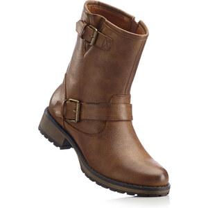RAINBOW Boots motardes marron avec 4 cm platchaussures & accessoires - bonprix
