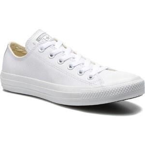 SALE - 10% - Converse - Chuck Taylor All Star Monochrome Leather Ox W - Sneaker für Damen / weiß