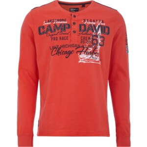 Camp David Serafino Shirt mit Logo-Applikationen