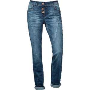 Cecil Used Blue Jeans Scarlett - mid blue used wash, Herren