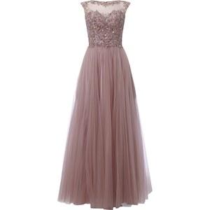 Luxuar Abendkleid mit Zierperlen- und Paillettenbesatz