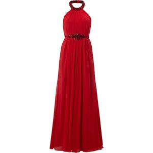 Luxuar Abendkleid mit Collierkragen