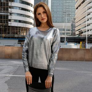 Lesara Pull en tricot aspect métallique