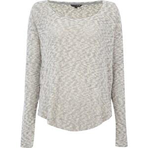 REVIEW Pullover aus meliertem Strick
