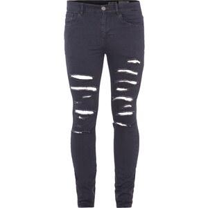 REVIEW Skinny Fit Jeans mit ausgefransten Löchern