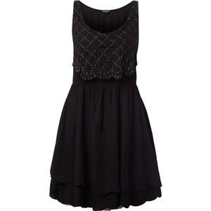 REVIEW Kleid im Layer-Look mit Zierperlen