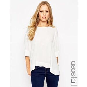 ASOS TALL - Oversize-Kimono-T-Shirt mit V-Ausschnitt hinten - Schwarz 16,99 €