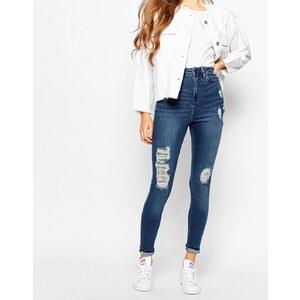 Waven - Anika - Hoch geschnittene Jeans - Blau