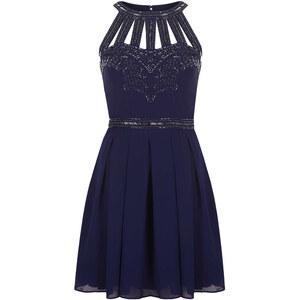 Topshop Verziertes Kleid Mit Gittermuster Von TFNC - Navy Blau