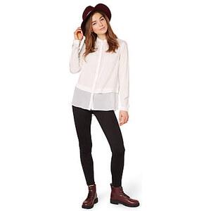 TOM TAILOR push up interlock leggings Leggings mit Ziernähten für Frauen (unifarben, mit elastischem Bund) aus angenehmem Material-Mix mit Stretch-Anteil, vertik